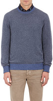 Luciano Barbera Men's Cashmere Elbow-Patch Sweater-LIGHT BLUE
