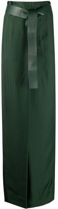 Salvatore Ferragamo Belted High-Waist Trousers