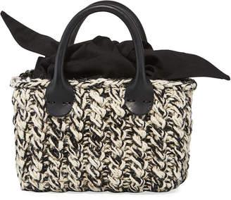 Muun Panier Rib Mini Mix Hand-Knit Top-Handle Bag