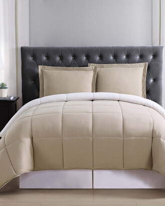 Truly Soft Everyday Khaki & Ivory Reversible Comforter Set