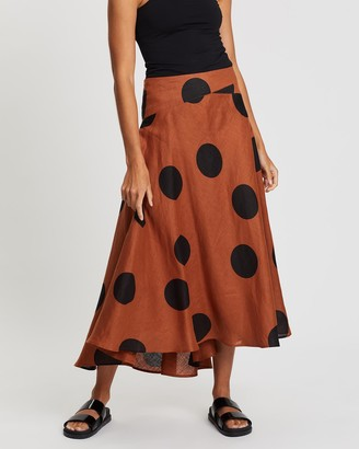 POL Clothing Santa Cruz Midi Skirt