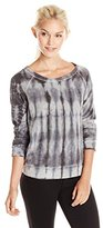 Splendid Women's Raglan Pullover Tie-Dye T-Shirt XL (Women's 14-16)