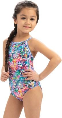 Dolfin Uglies Girls Shimmer Print 1-Piece Swimsuit