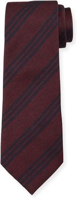 Emporio Armani Men's Silk Double-Stripe Tie