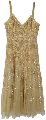 Needle & Thread Yellow Lace Dress for Women
