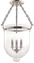 Hudson Valley Lighting Valley 253-PN-C1 3 Light Hampton SemiFlush Semi Flush