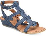 b.ø.c. Heidi Snake-Embossed Sandals Women's Shoes