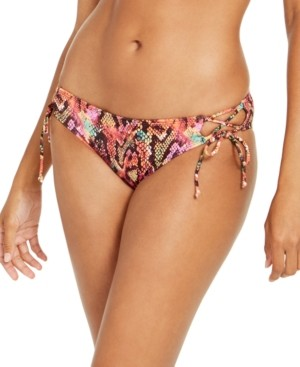 Sundazed Reptilia Printed Kylie Tie-Side Bottoms, Created for Macy's Women's Swimsuit