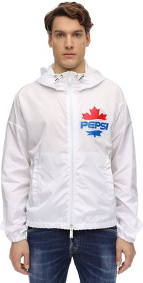 Dsquared2 X Pepsi Printed Nylon Zip Hooded Jacket
