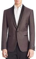 Pal Zileri Berry Vector Jacquard Silk Jacket