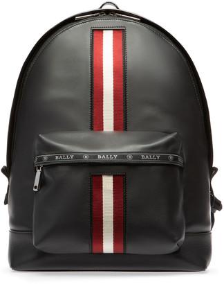 Bally Men's Leather Trainspotting-Stripe Backpack