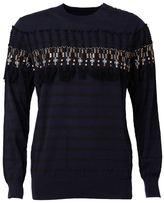 Sacai striped tassel jumper - men - Cotton - 3