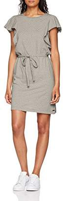 S'Oliver Q/S designed by Women's 41.806.82.2482 Dress, (Black Stripes 99G0), (Size of : XL)