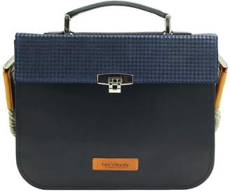 Ten Cloudy Kensington Structured Satchel-Navy Blue/Black
