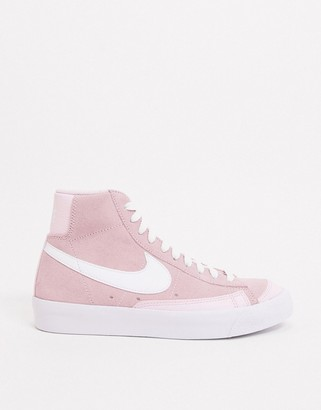 Nike Blazer Mid 77 sneakers in pink and white