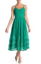 NSR Sleeveless Lace Midi Dress