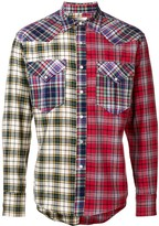 Isabel Marant Billy patchwork check shirt
