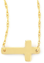 Moon and Lola Gold-Plate Integrated Cross Necklace
