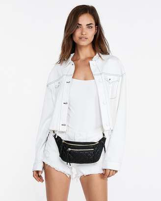 Express Chain Strap Quilted Fanny Pack