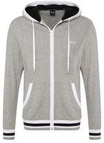 Hugo Boss Jacket Hooded Brushed Cotton Varsity Hooded Jacket M Grey