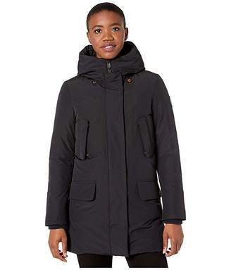 Save The Duck Copy 9 Winter Hooded Parka (Black) Women's Clothing