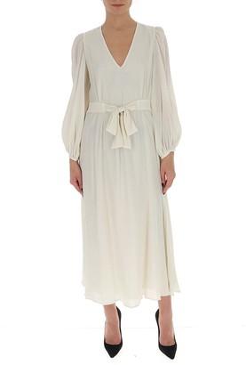 L'Autre Chose Tie-Waist Maxi Dress