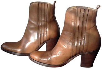 Sartore \N Camel Leather Ankle boots