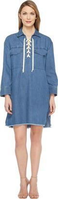 Joe's Jeans Women's Eveline Lace Up Denim Dress
