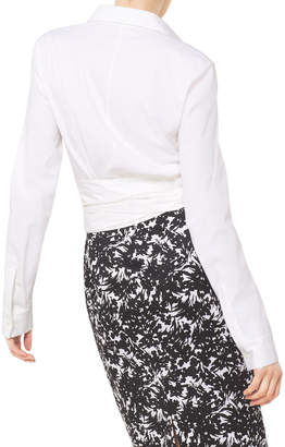 Michael Kors Long-Sleeve Wrap-Front Blouse