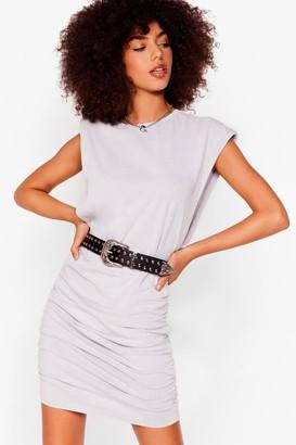 Nasty Gal Womens Power of Love Ruched Mini Dress - Grey - 6, Grey