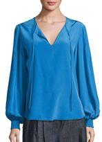Tibi Silk Pintucked Tunic