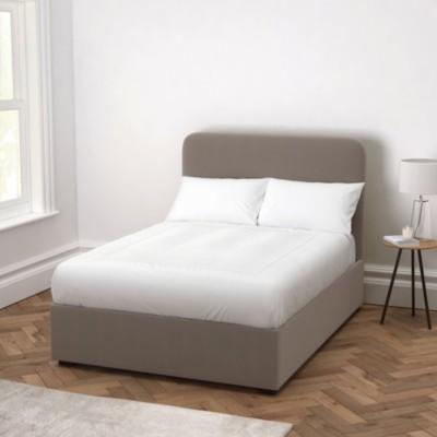 The White Company Melbury Velvet Bed, Silver Grey Velvet, King