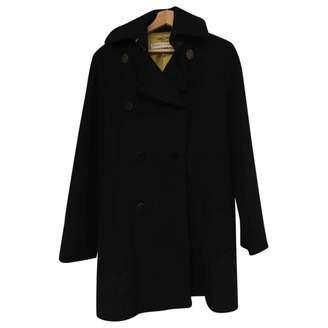 Frankie Morello Black Wool Coats