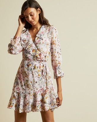 Ted Baker GRACYE Jasmine ruffle wrap dress