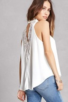 Forever 21 Lace-Back Swing Top