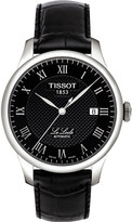 Tissot T0064071605300 Le Locle stainless steel automatic and leather strap watch