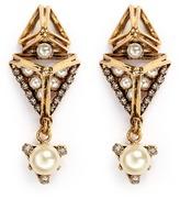Erickson Beamon 'Bermuda Triangle' glass pearl earrings