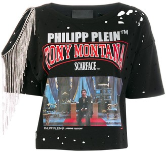 Philipp Plein embellished Scarface T-shirt