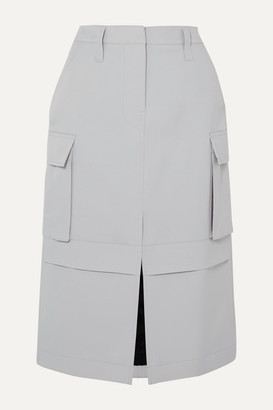 we11done Twill Pencil Skirt - Gray