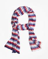 Brooks Brothers Stripe Silk-Blend Oblong Scarf