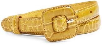 Topshop Croc-Embossed Belt