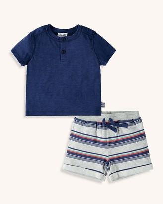 Splendid Baby Boy Printed Stripe Short Set