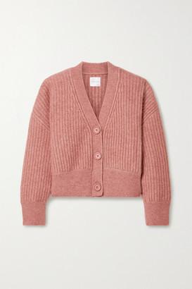 Anine Bing Maxwell Ribbed-knit Cardigan - Pink