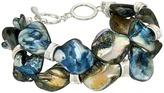Robert Lee Morris Blue Shell Flex Bracelet