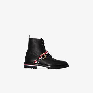 Thom Browne black Wing Tip leather Boots