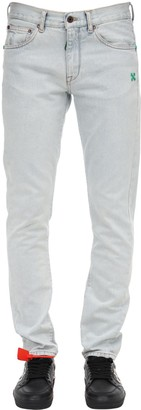 Off-White Bleached Slim Cotton Denim Jeans