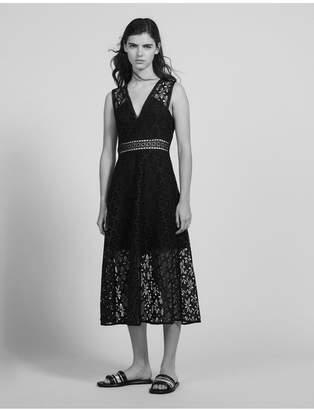 Sandro English Guipure Lace Midi Dress