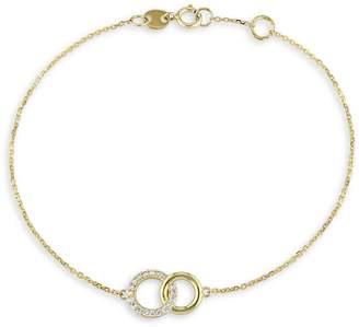 Everly 14K Yellow Gold 0.1 CT. T.W. Diamond Circles Charm Bracelet