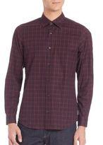 Z Zegna Check Printed Cotton Shirt