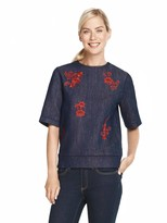 Draper James Floral Embroidered Sweatshirt
